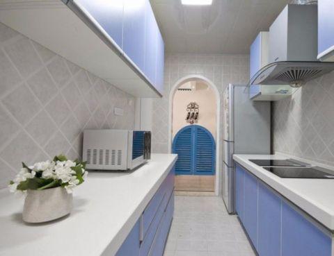 厨房走廊地中海风格效果图