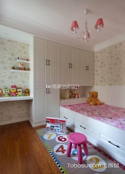 儿童房白色衣柜美式风格装修图片