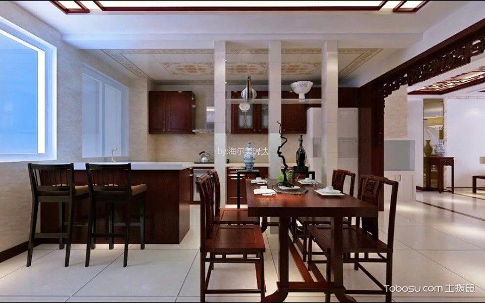客厅 博古架_拉菲香榭简中风格四居室装修效果图