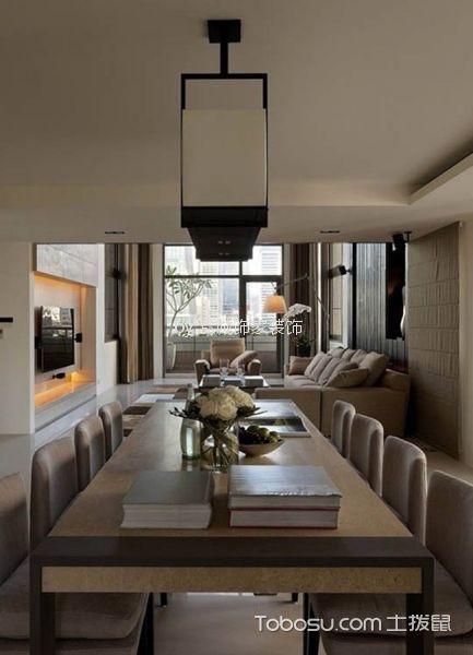 餐厅米色餐桌简约风格装修图片