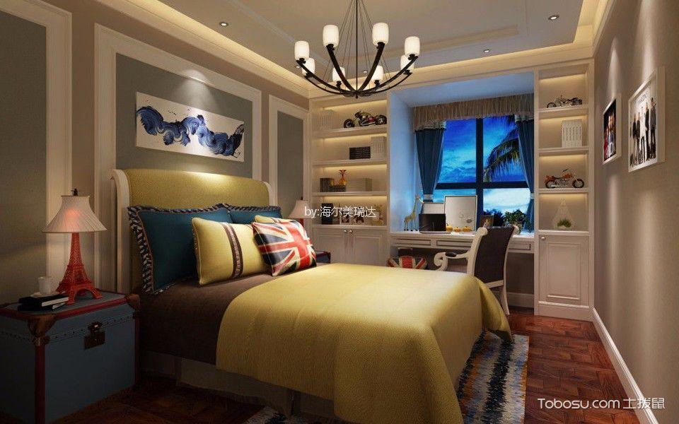 泰达花园120平后现代风格三居室装修效果图