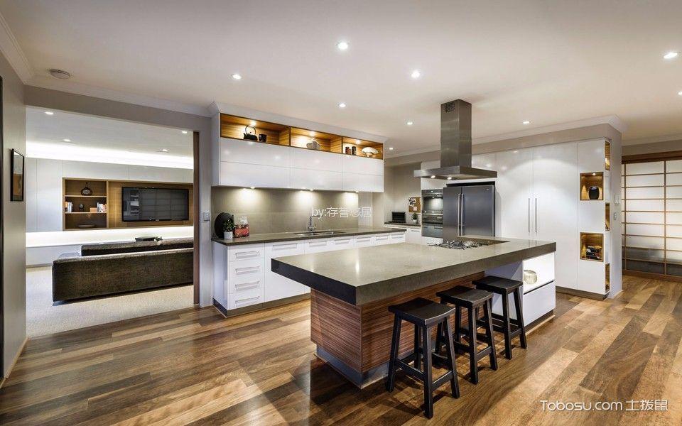 厨房灰色厨房岛台北欧风格装饰设计图片