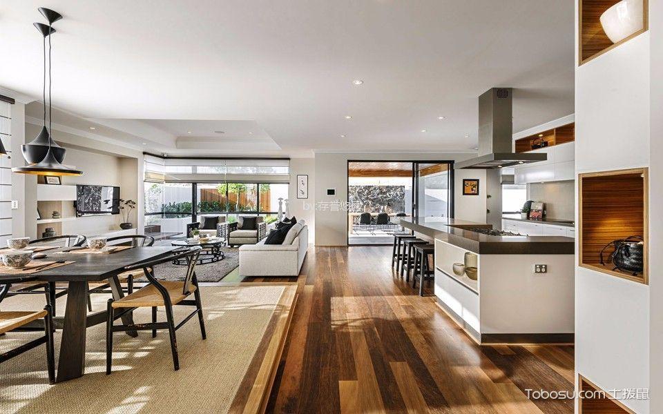 厨房白色隔断北欧风格装潢设计图片
