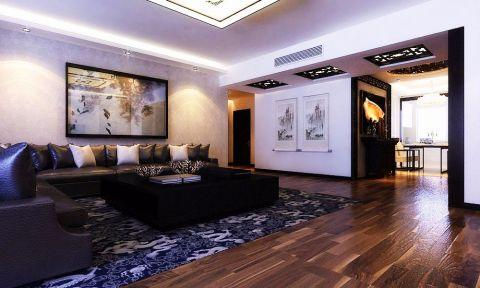 滨水小区158平米中式风格三居室装修效果图