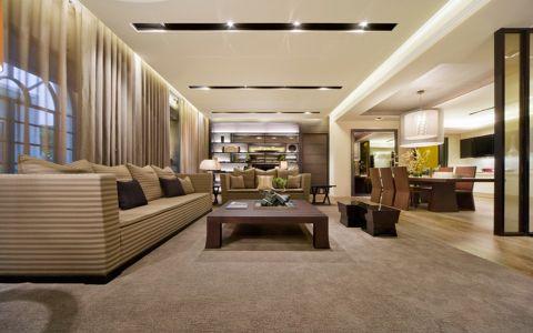 客厅窗帘日式风格装饰效果图