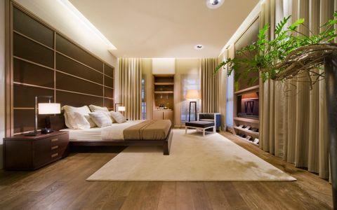 卧室背景墙日式风格装潢效果图