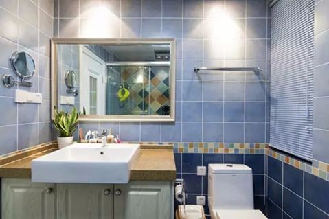 卫生间背景墙田园风格装饰效果图