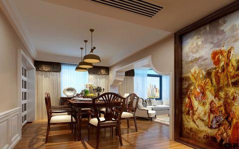 餐厅门厅美式风格装潢效果图
