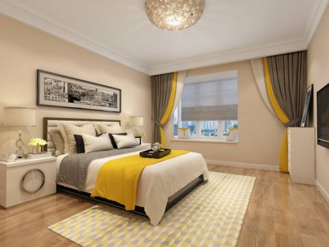 2020新中式70平米设计图片 2020新中式二居室装修设计