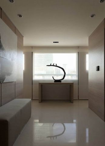 玄关白色门厅简约风格效果图