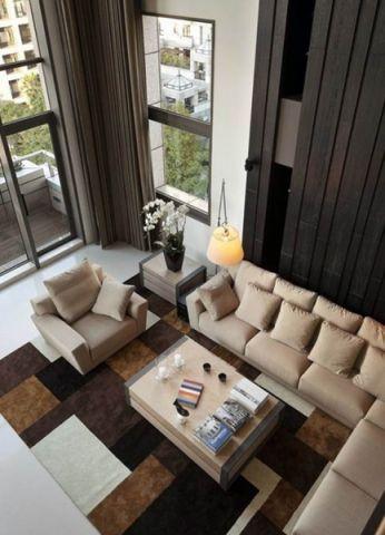客厅米色沙发简约风格装饰效果图