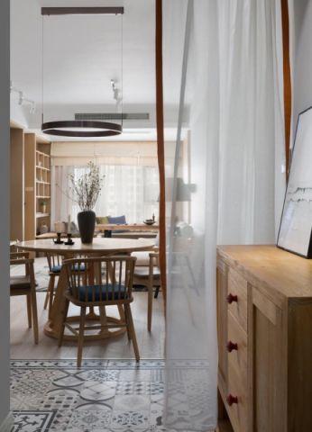 淞虹路90平现代简约风格二居室装修效果图