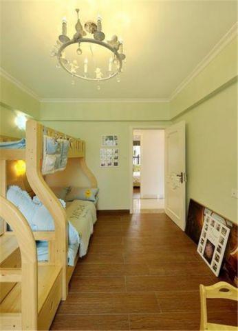儿童房背景墙简欧风格装潢设计图片