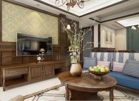 翡丽澜湾乡村90平米美式风格二居室装修效果图
