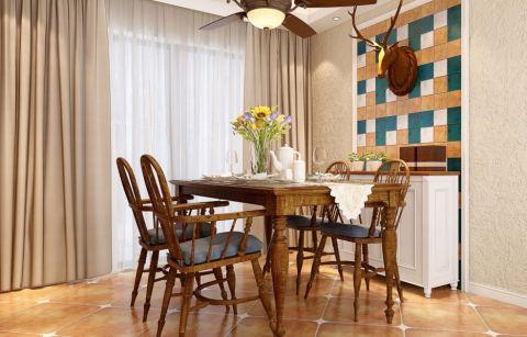 餐厅飘窗美式风格装饰效果图