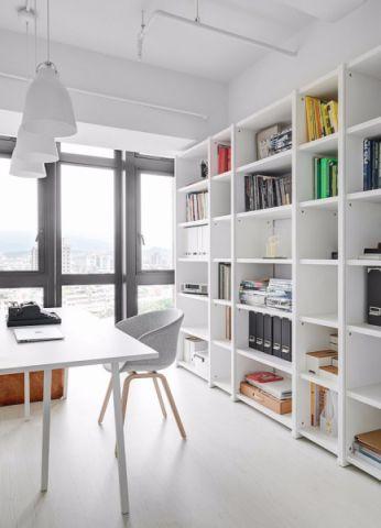 书房博古架现代简约风格效果图