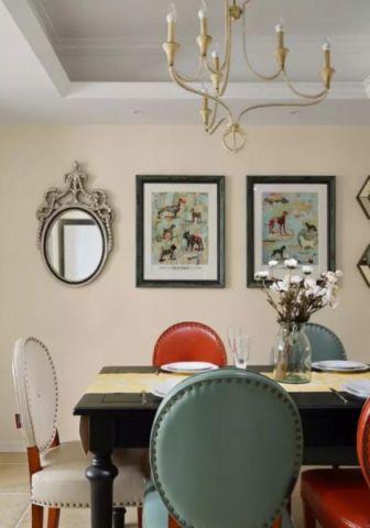 餐厅照片墙美式风格装潢效果图