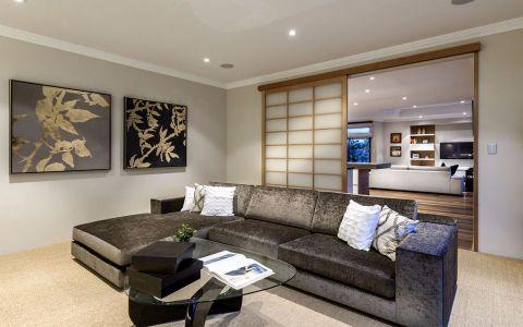 客厅隔断北欧风格装修设计图片