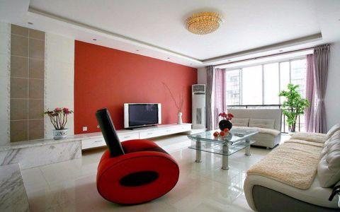 汉口城市广场130平现代简约三居室装修效果图