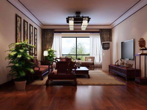 客厅电视柜中式风格装饰效果图