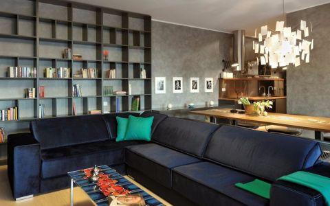 客厅书架现代风格装潢效果图