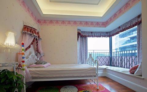 儿童房飘窗简欧风格装饰图片