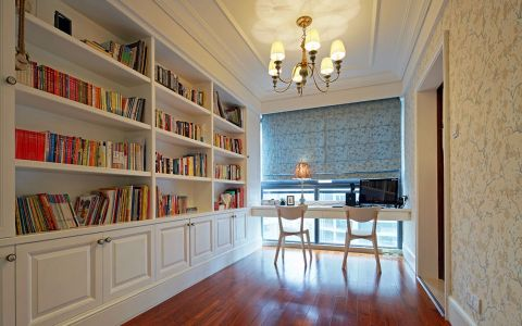 书房书桌简欧风格装潢图片
