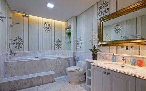 浴室浴缸简欧风格装修设计图片