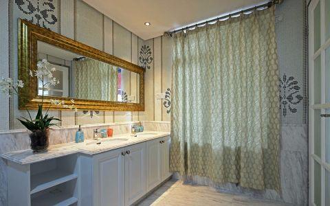 卫生间窗帘简欧风格装饰设计图片
