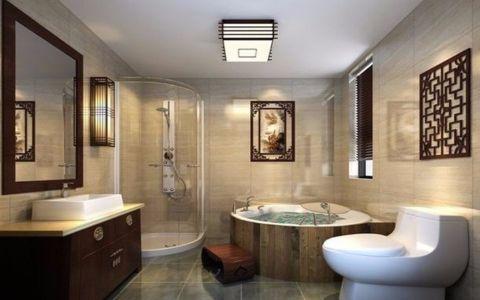 卫生间隔断新中式风格装潢图片