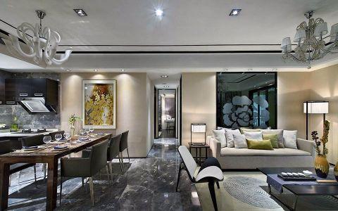 客厅走廊新中式风格装修设计图片