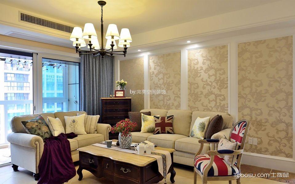 6万预算120平米三室两厅装修效果图