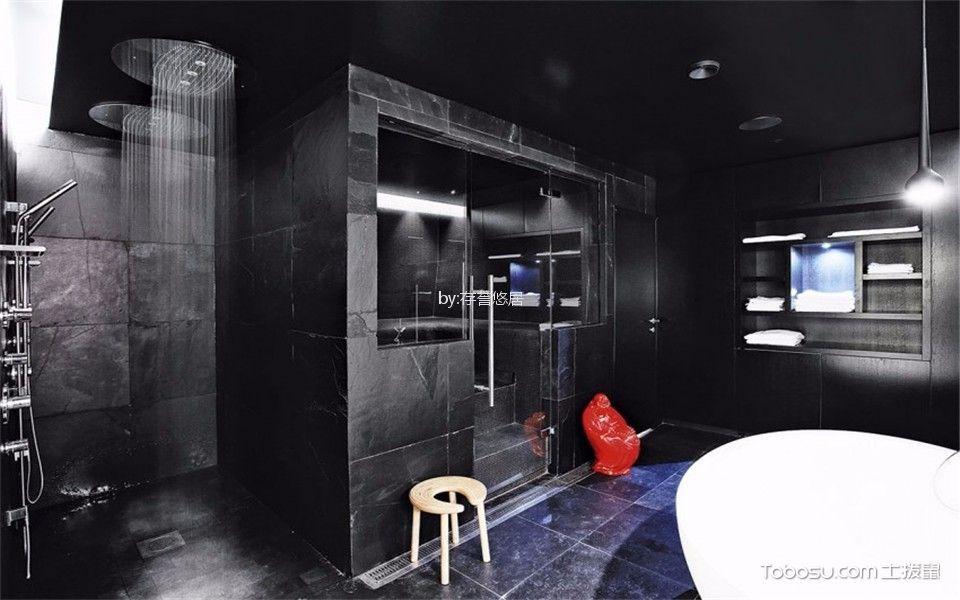 卫生间 背景墙_玉兰广场180平方现代风格装修效果图