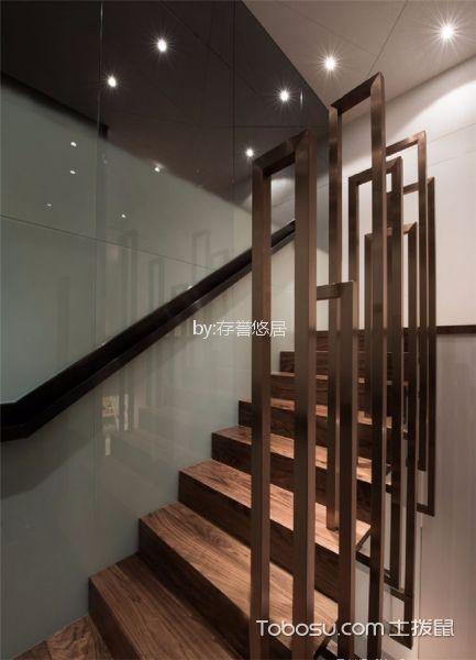 玄关咖啡色楼梯现代风格装修效果图
