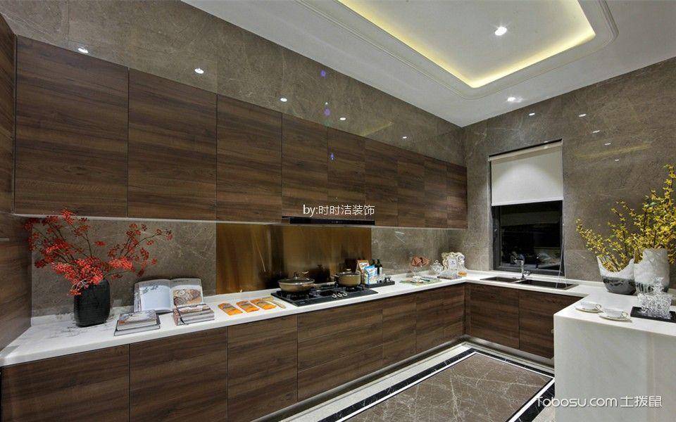 厨房 吊顶_清河园80平中式风格三居室装修效果图