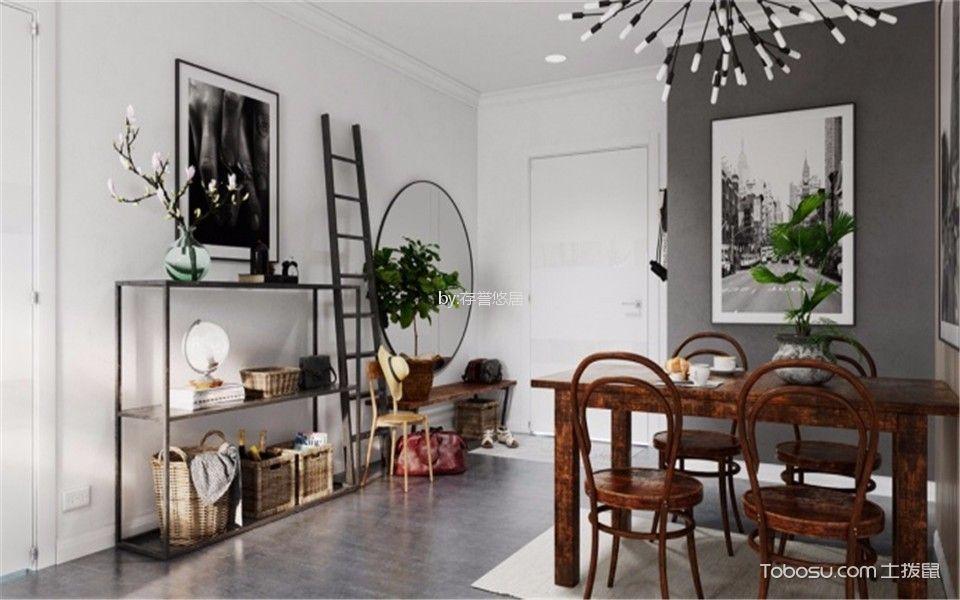 玄关白色走廊北欧风格装潢图片