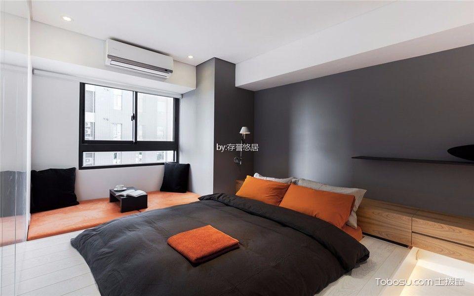 卧室黑色窗台现代风格装饰设计图片