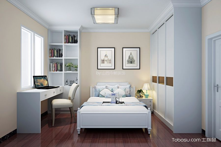 卧室书桌现代简约装修图