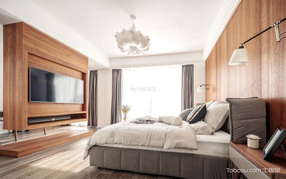奢华卧室窗帘装饰实景图