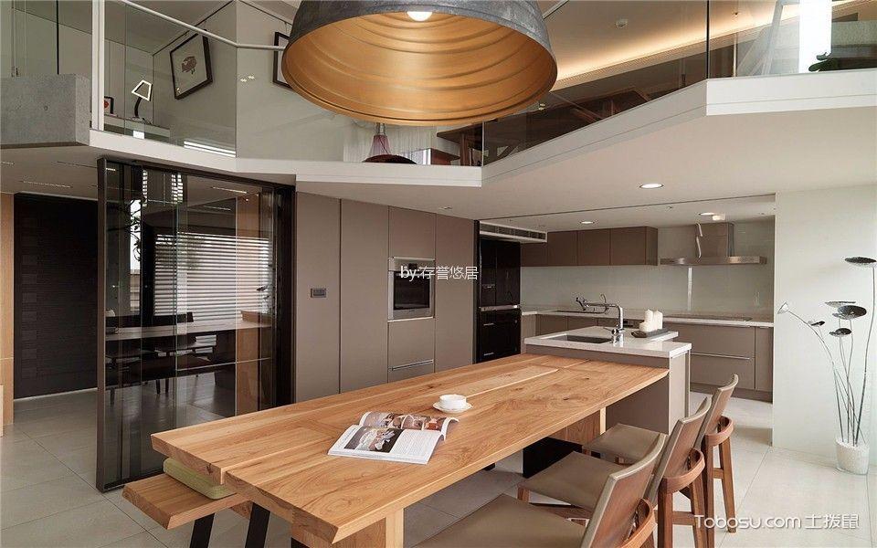 厨房黄色餐桌现代风格装饰图片