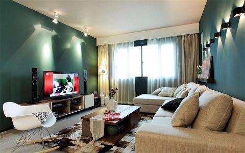 莱蒙城130平米现代简约公寓装修效果图