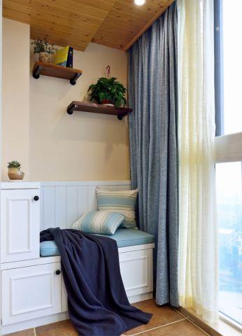 阳台窗帘美式风格效果图