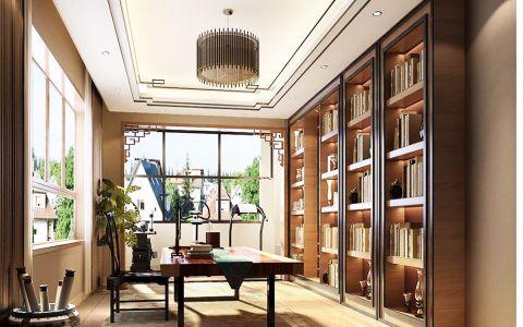 书房吊顶混搭风格装修效果图