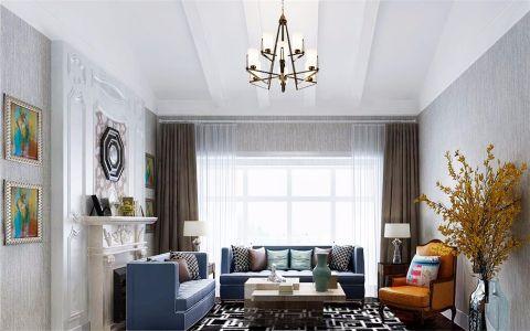 玉兰广场139平米混搭风格公寓装修效果图