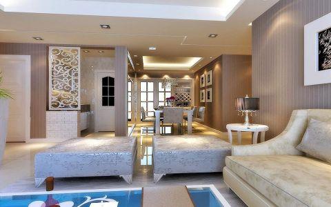 客厅走廊现代欧式风格装修图片