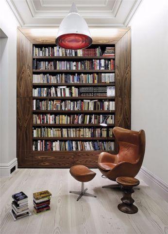 书房书架现代风格装潢设计图片