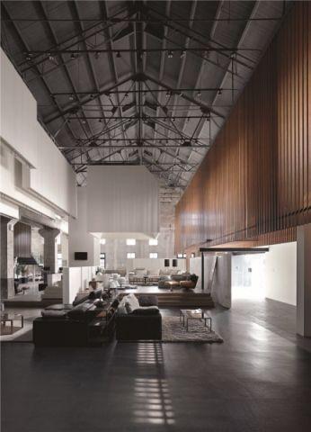 現代風格工廠改造展廳裝修效果圖