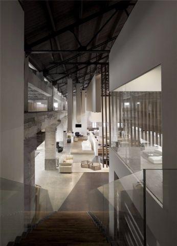 现代风格工厂改造展厅装修效果图