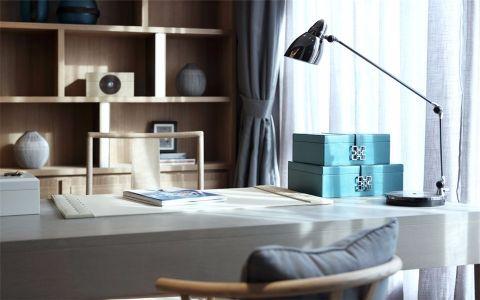 现代书房窗帘装饰实景图