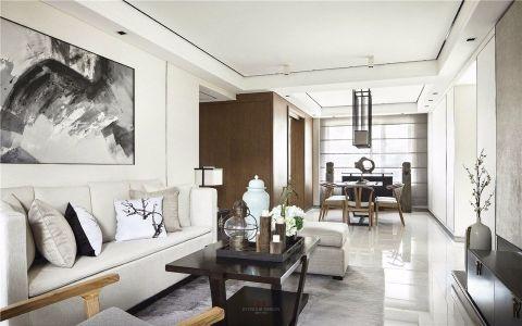 5万预算103平米两室两厅装修效果图